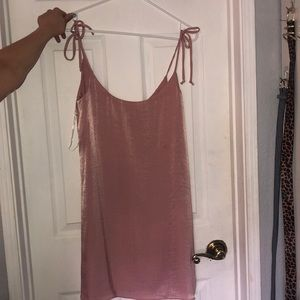 NWT Pink satin dress